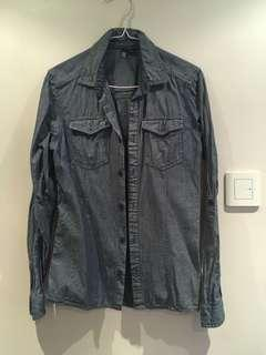 (SF delivery only) H&M denim shirt