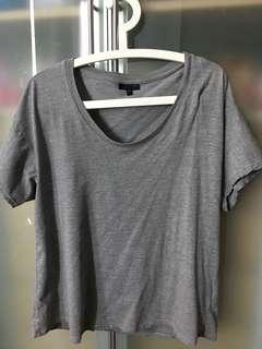 Topshop women Gray Color tee Size 12