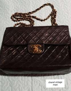 3d769be3f05d Authentic Chanel Vintage Maxi flap
