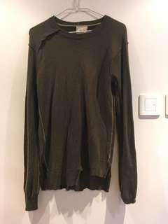 (SF delivery only) OMM man dark green sweater