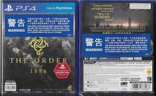 全新 PS4 黑色使命(中英文合版) PS4 THE ORDER: 1886 (CHI+ENG)