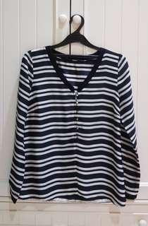 Zara stripe blouse