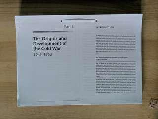 Tjc H1 History Origins and development of the cold war