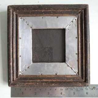 Vintage, photo frame, wood, dark brown,