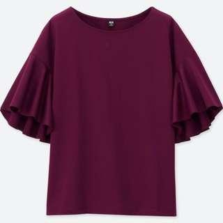 UNIQLO Brand New Purple Flare Sleeve Tops
