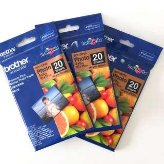 Brother Premium Glossy Photo Paper 4x6 3pks of 20