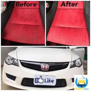 Interior fabric cleaning fd2r