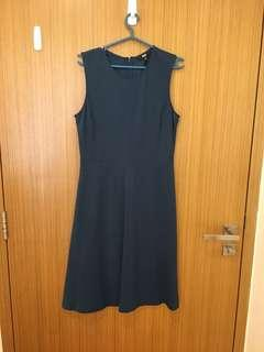 Uniqlo teal ponte dress