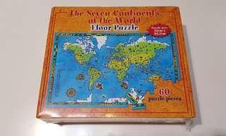 [BN] Floor World Map Puzzle seven continents 60 pcs