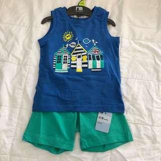 Mothercare beach hut vest & shorts set