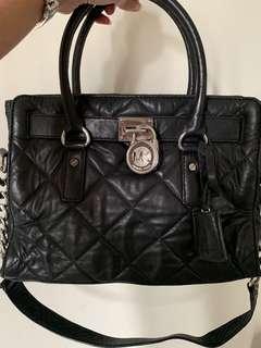 Michael Kors Black Bag with Silver Chain