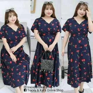 Plus Size Cherry Dress