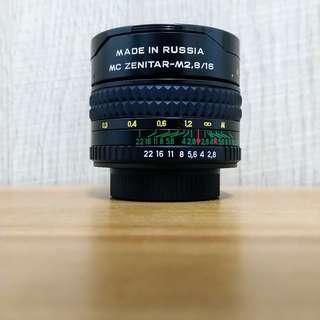 Zenitar 16mm f/2.8 Fisheye (Fujifilm X-Mount adapter)