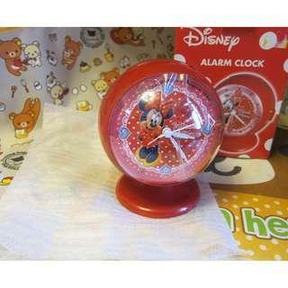 全新正版 迪士尼 米妮 電子鬧鐘 時鐘 Disney Minnie Mouse quartz alarm clock 鬧鐘 咇咇響鬧聲 紅