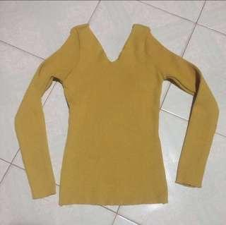 Yellow Long Sleeve Top
