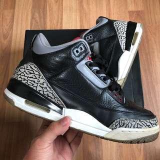 Nike air jordan 3 black cements
