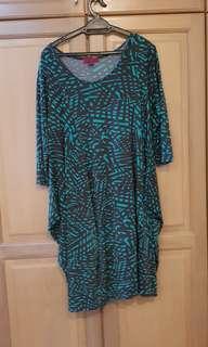 Plus Size Dinner Dress (Green)