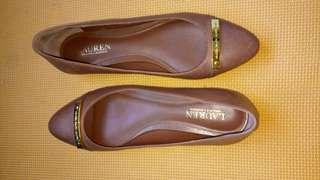 Ralph Lauren Farrel Leather Flats