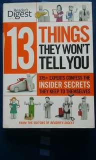 Reader's Digest 13 Things They Won't Tell You