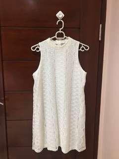 Chocochips White Lace Dress