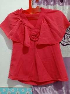 Pink rose top