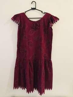 Vintage Duster Red Dress