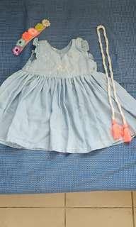 Baby ootd (denim dress)