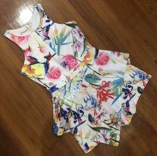Floral Origami Romper