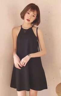 Halter Black Top Dress