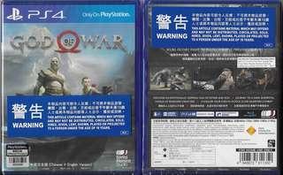 全新 PS4 軍神(中英文合版) PS4 GOD OF WAR (CHI+ENG)