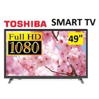 TOSHIBA 49 Full HD SMART LED TV, CEVO Engine Premium, 3D Noise Filter