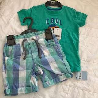 Mothercare cool dude shirt & shorts set