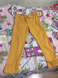 Mustard work pants