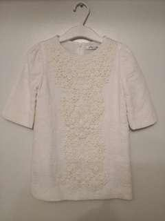 Gingersnaps Embroidered White Dress