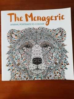 🚚 The Menagerie animal portraits colouring book