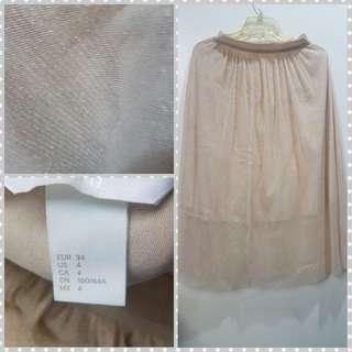 Buy H&M skirt gold (S)
