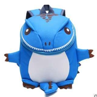 🚚 3D Dinosaur Backpack For Boys Children backpacks kids kindergarten Small SchoolBag Girls Animal School Bags Backpack for 1-5 years - Blue