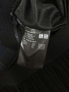 Uniqlo Black Pleated Midi Maxi Skirt
