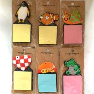 Fridge Magnet with Post It Stickers