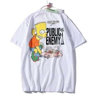 Tshirt Off White x Bart 19SS for men women unisex