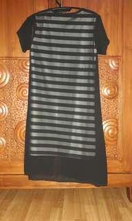 Dress stripe strech