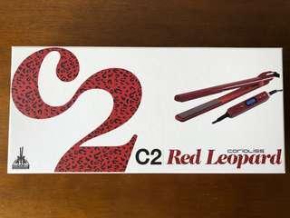95% New Corioliss Hair Straightener (Red Leopard) / 九成半新Corioliss C2 紅色豹紋直髮器