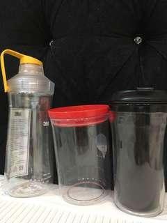 🚚 隨行杯、水壺、儲物罐共3件