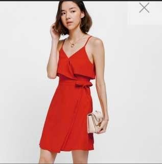 Love Bontio Bess Crossover Tie Side Dress