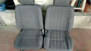 2 pc bucket seat with headdress