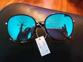 Korea Mirrored Sunglasses with blue tinted ~ New