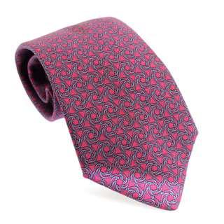 Hermes Red Tie with Blue Circular Pattern (New Year Promosi)
