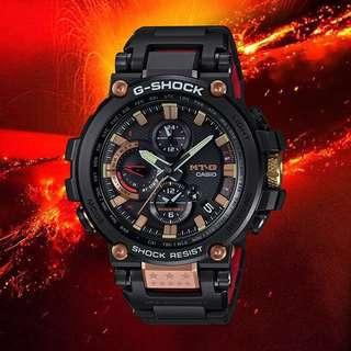 100% Authentic 🔥 Casio 35th Anniversary Magma Collection MTGB1000TF MTG-B1000 MTG Series Black Rose Gold G-Shock Limited Edition with FREE DELIVERY 📦