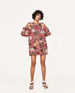Open Shoulder Mini Dress