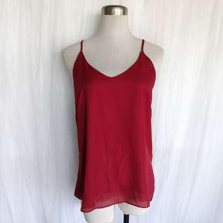 NWOT Red Halter Top (Free Size, will fit S-M)